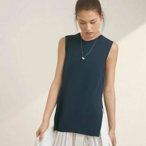 Aritzia Wilfred Palmier Sweater Sleeveless Blue XS
